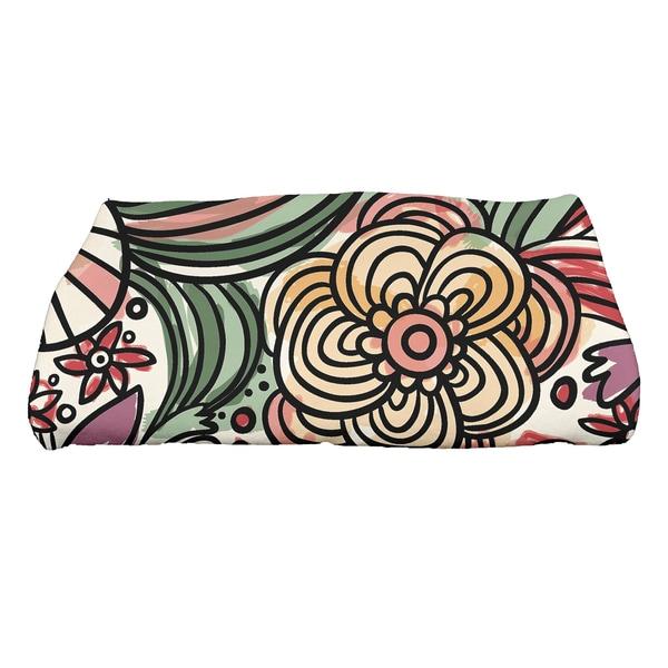 28 x 58-inch Zentangle Floral Floral Print Bath Towel