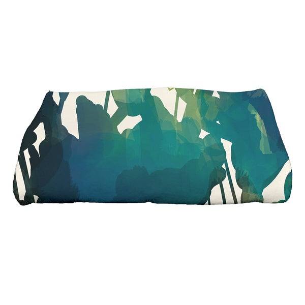 28 x 58-inch Abstract Floral Floral Print Bath Towel