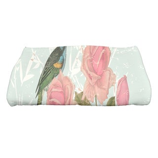 28 x 58-inch Asian Rose Floral Print Bath Towel