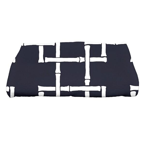 28 x 58-inch Bamboo 1 Geometric Print Bath Towel