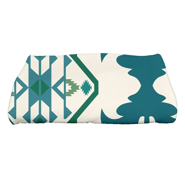 28 x 58-inch Bombay 6 Geometric Print Bath Towel