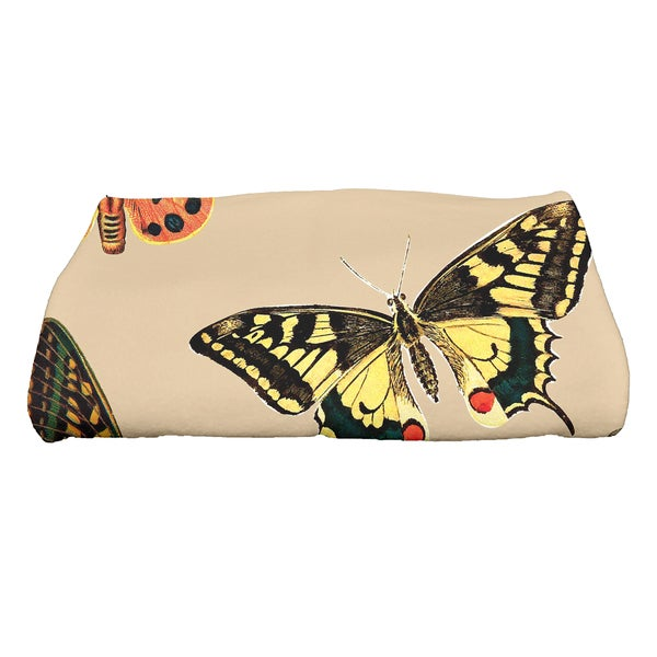 28 x 58-inch Butterflies Animal Print Bath Towel