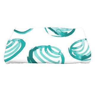 28 x 58-inch Clams Geometric Print Bath Towel