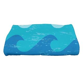 28 x 58-inch Deep Sea Geometric Print Bath Towel