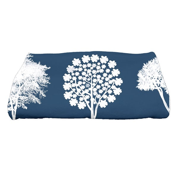 30 x 60-inch Field of Trees Floral Print Bath Towel