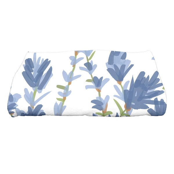 30 x 60-inch Lavender Floral Print Bath Towel