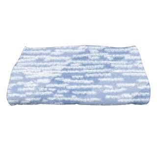 28 x 58-inch Marled Knit Stripe Geometric Print Bath Towel