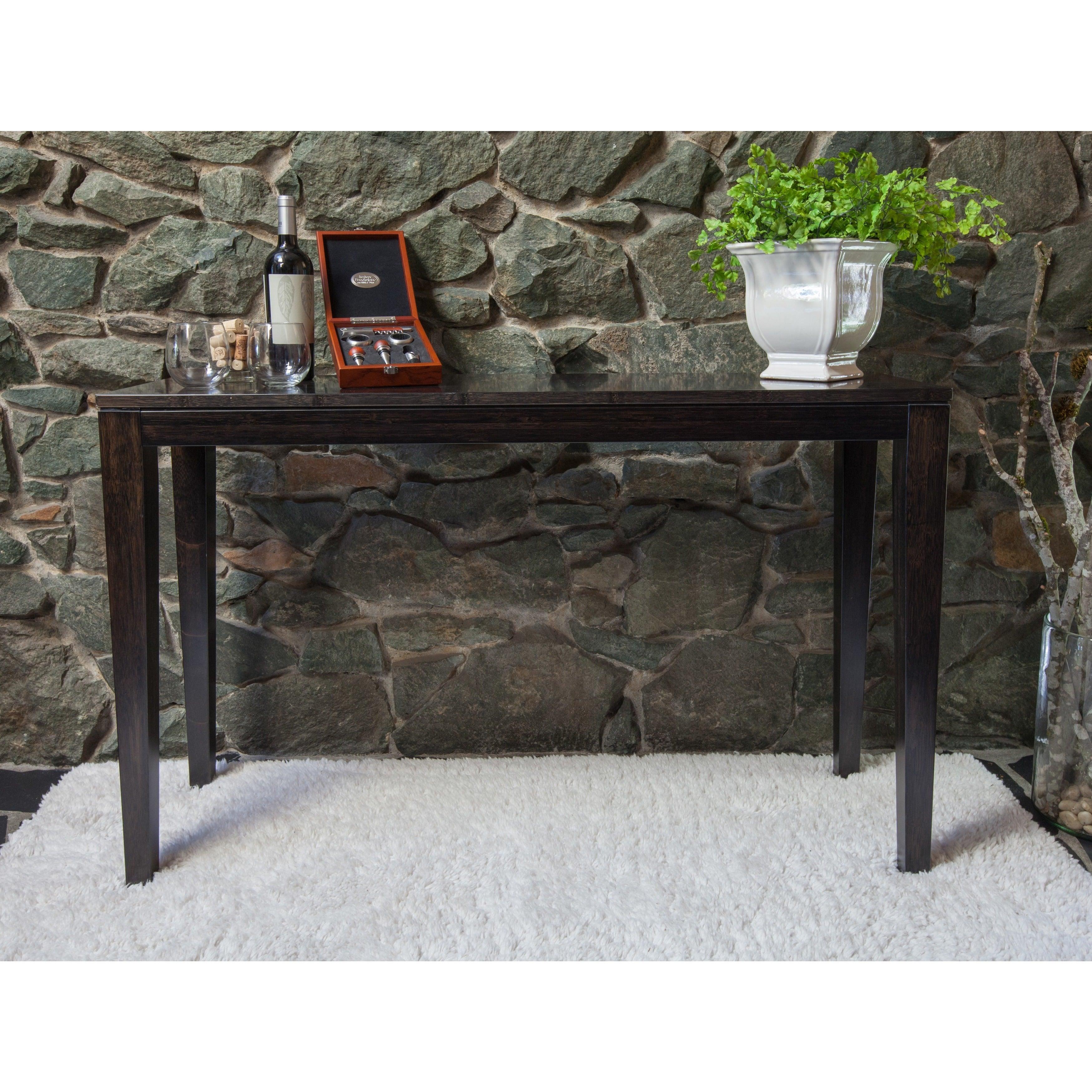 Bamboogle Sturdy Narrow Console Table