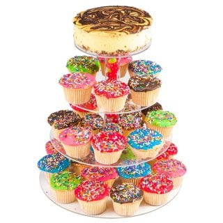 Utenlid 4-Tier Stacked Party Cupcake and Dessert Tower