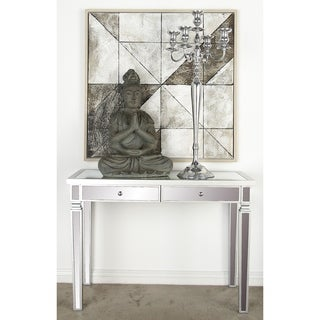 Wood Mirror-inlay Vanity Desk