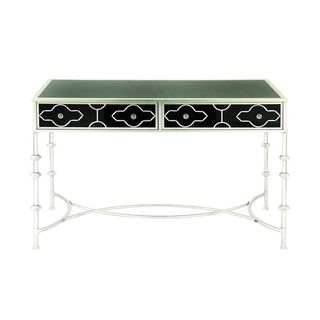 Metal Glass 2-drawer Vanity Desk