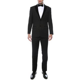 Ferrecci Noir Premium Velvet Lapel Slim Fit 2-piece Tuxedo|https://ak1.ostkcdn.com/images/products/12223461/P19068239.jpg?impolicy=medium