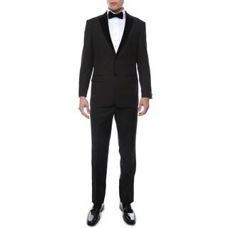 Ferrecci Noir Premium Velvet Lapel Slim Fit 2-piece Tuxedo