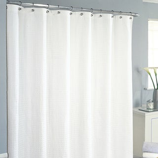 white waffle shower curtain. Excell Waffle Shower Curtain White