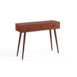 Mid-Century 3-drawer Wood Console Table