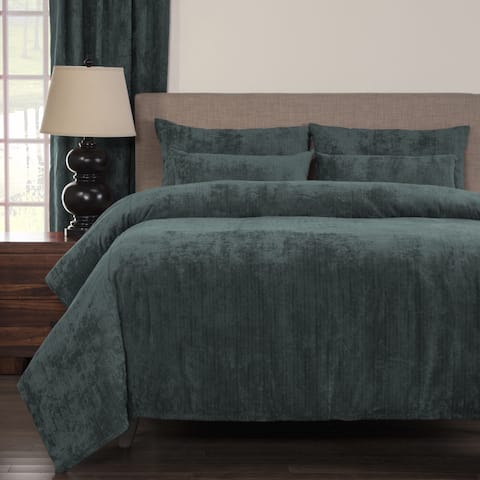 Silver Orchid Powell Blue Soft 6-piece Duvet Cover Set