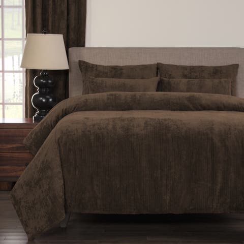 Silver Orchid Powell Cognac Soft 6-piece Duvet Cover Set
