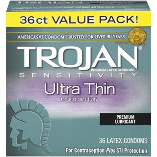 Trojan Sensitivity Ultra-thin Lubricated Condoms