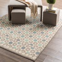 Mohawk Home Cascade Heights Lattice Tiles Grey Area Rug (8' x 10') - 8' x 10'