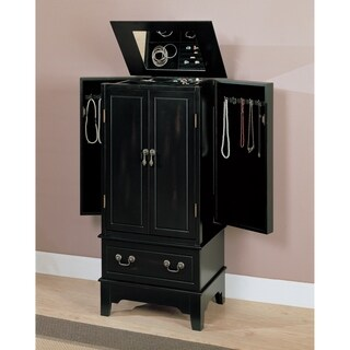 Bon Coaster Company Home Furnishings Transitional Jewelry Armoire (Black)