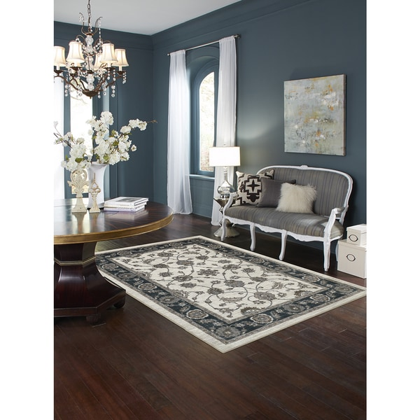 Mohawk Home Traditional Jewel Rug: Shop Mohawk Home Aurora Traditional Floralesqe Area Rug (8