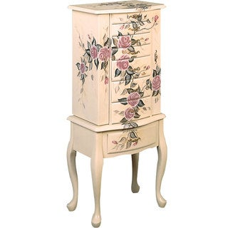 Coaster Company Floral Jewelry Armoire