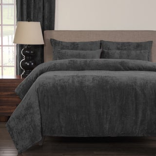 Link to Silver Orchid Powell Pewter Soft 6-piece Duvet Cover Set Similar Items in Duvet Covers & Sets
