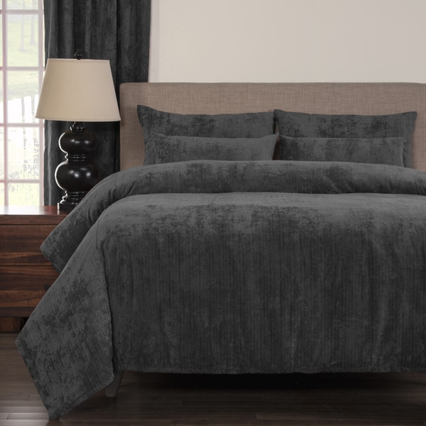 Draper Pewter Soft 6-piece Duvet Cover Set