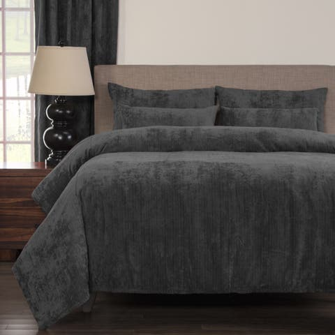 Silver Orchid Powell Pewter Soft 6-piece Duvet Cover Set