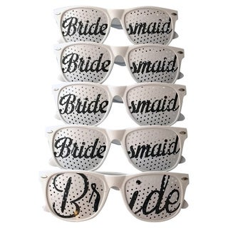 Unik Occasions Brides Wedding Party Sunglasses (Set of 5)