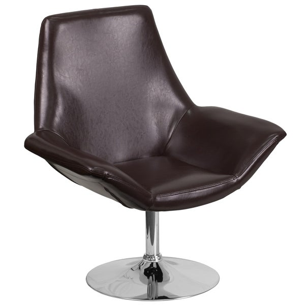 LeatherSoft Side Reception Chair with Open Protruding Arms - Lobby Seating