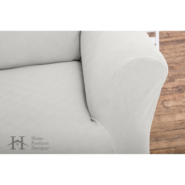 Cambria Collection Heavyweight Stretch Sofa Slipcover - Free ...