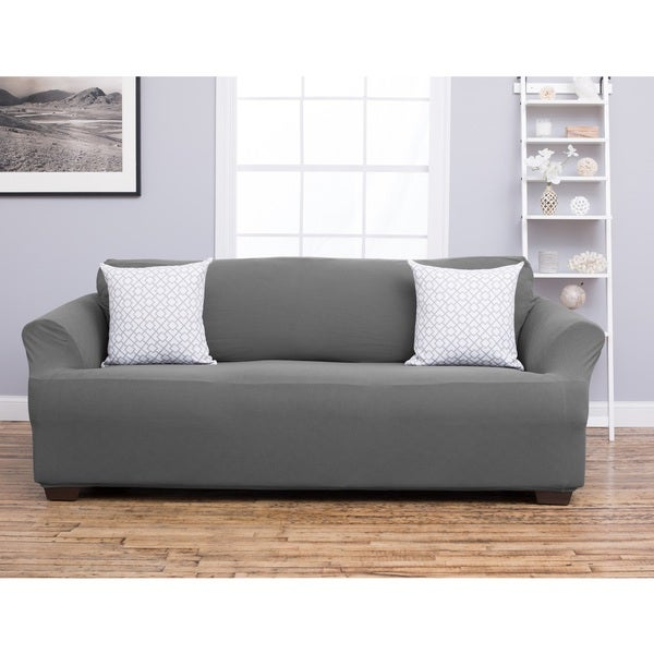 Slipcover Sofa Set: Cambria Collection Heavyweight Stretch Sofa Slipcover