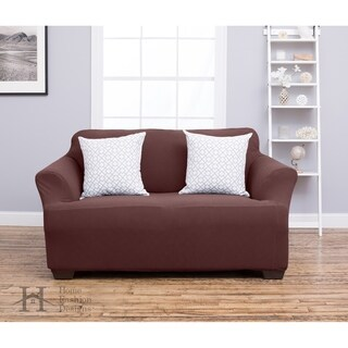 Home Fashion Designs Cambria Collection Polyester Heavyweight Stretch Slipcover and Furniture Protector for Loveseats
