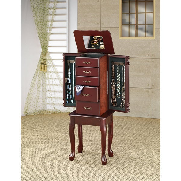 Coaster Company Cherry Queen Anne Jewelry Armoire Free