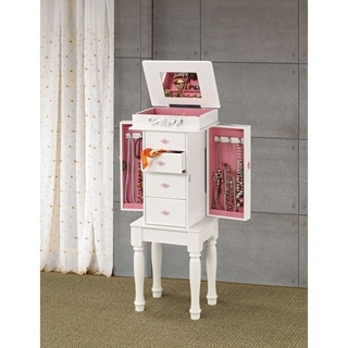 Coaster Company White Jewelry Armoire