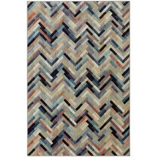 Mohawk Home Cascade Heights Caftan Stripe Multi Area Rug (8'x11')