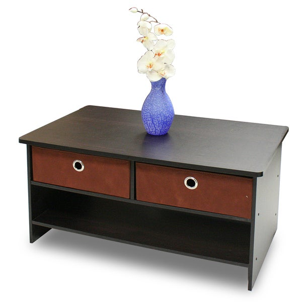 Furinno Jaya Oval Coffee Table: Shop Furinno Espresso Coffee Table