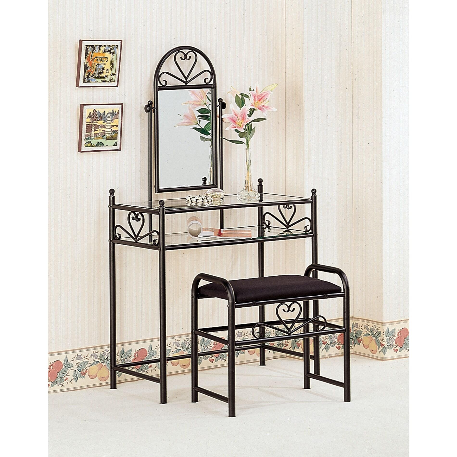 Coaster Furniture Black Heart-shaped Vanity (Vanity)