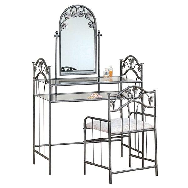 Shop Coaster Company Fine Furniture Vanity Set (Silver