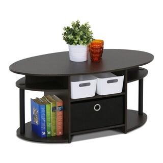 Porch & Den East Village Astor Walnut Oval Coffee Table