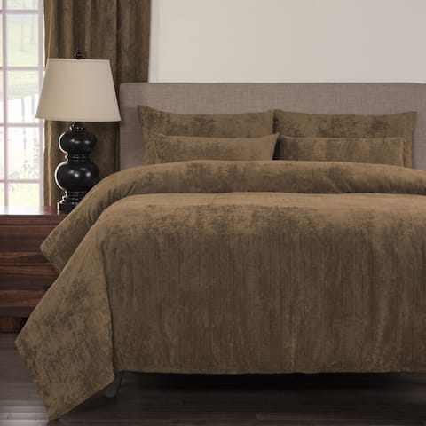 Silver Orchid Powell Wheat Soft 6-piece Duvet Cover Set