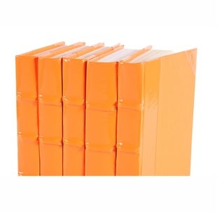 Patent Leather Books - Orange, S/5