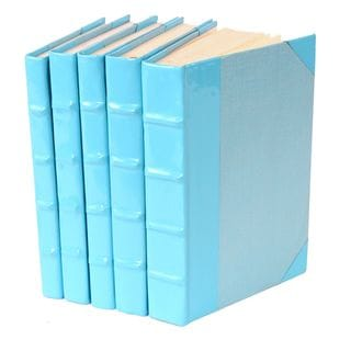 Patent Leather Books - Light Blue, S/5