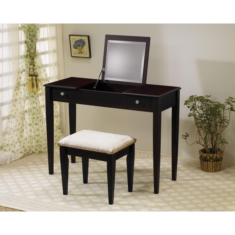 Coaster Furniture 2-piece Dark Brown Hidden Mirror Vanity...