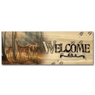 WGI Gallery Woodland Splendor Wood Indoor/Outdoor Printed Welcome Plaque/Sign
