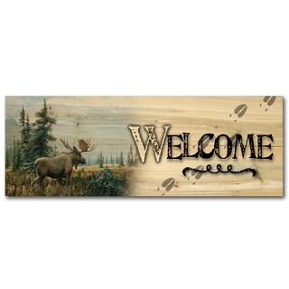 WGI Gallery 'Showdown' Wood Indoor/Outdoor Welcome Plaque/Sign