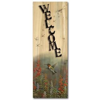 WGI Gallery Summer Hummer Wood Indoor/Outdoor Welcome Plaque/Sign