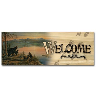WGI Gallery Serenity At Twilight Wood Indoor/Outdoor Welcome Plaque/Printed Sign
