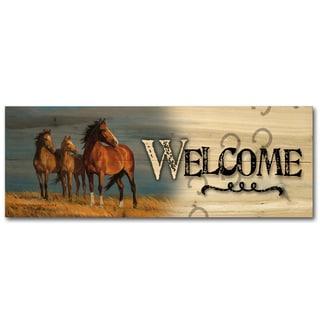WGI Gallery 'On Alert' Wood Indoor/Outdoor Welcome Plaque/Sign